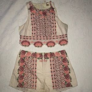 H&M Embroidered Set